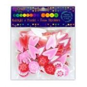 dpCraft Penové samolepky - srdce, korunky, kvety, (KSPI-089)