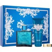 Versace Eros lote de regalo XIV. eau de toilette 100 ml + gel de ducha 100 ml + clip para billetes