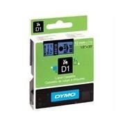 Dymo 45016 (S0720560) 12mm Cinta pl?stica negro sobre azul
