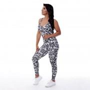GraffitiBeasts Fire4L - Dames Sport Jumpsuit - Multicolor - Size: Large