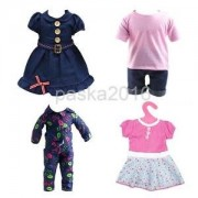 Alcoa Prime Pack of 4 Sets Doll Clothes Outfit for 18'' American Girl AG/Gotz Clothing