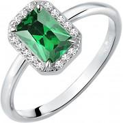 Morellato Strălucire inel de argint cu piatră verde Tesori SAIW76 52 mm