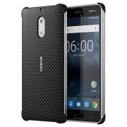 Nokia 6 Carbon Fibre Design Cover CC-802 - Zwart