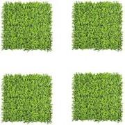 Wonderland Set of 4 Artificial Vertical Garden / Gardening Mat / mats with small green leaves for covering wall home decor garden decoration