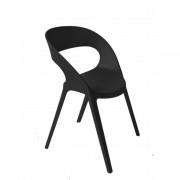 Resol - Conjunto de 2 cadeiras pretas CARLA - RESOL
