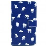 Nokia Lumia 625 Wallet Leather Case - Elephant