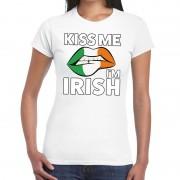 Bellatio Decorations Kiss me I am Irish t-shirt wit dames