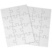 Inovart Puzzle-It Blank Puzzles 12 Piece 5-1/2 x 8 - 24 Pieces Per Package