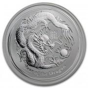 The Perth Mint Lunární série II. stříbrná mince 0,5 AUD Year of the Dragon Rok draka 1/2 Oz 2012