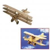 Merkloos Set van 2x stuks houten bouwpakket speelgoed vliegtuigen