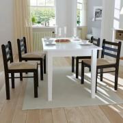 vidaXL Matstolar i trä fyrkantig design brun 4 st