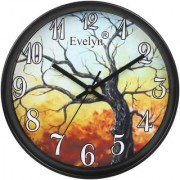Evelyn Round Design Wall Clock for Office Bed Room Lobby Kitchen Stylish Wall Clocks Modern Design Durable Wall Clock