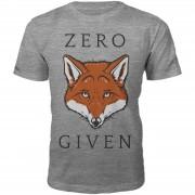 T-Junkie Zero Fox Given Heren T-Shirt - Grijs - M - Grijs