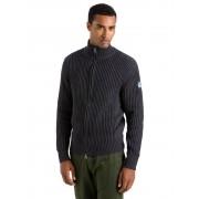 North Sails Maglione Uomo Fishermann Cotton/Wool Full Zip Taglia: L Uomo Colore: Grigio 698358-0935