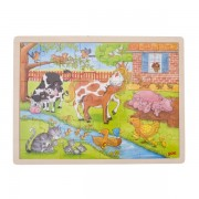 Fa puzzle, élet a tanyán