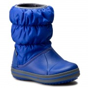 Cizme de zăpadă CROCS - Winter Puff Boot Kids 14613 Cerulean Blue/Light Grey