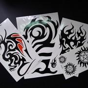 Kotbs 4 Sheets Mix Large Totem Tattoo Sticker Body Art Make up for Men Women Temporary Tattoos Waterproof Transfer Paper