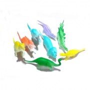 Set of 8 Dino World Radium Animals Plastic Toys for Kids (useful learning resources) Size- 15/3 cm