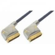 Transmedia VBVC3-1, 5L, Scart Cable 1,5 m, Scart plug to scart plug, 21 pin connected chromium-p