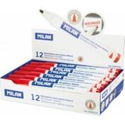 Set 12 Markere MILAN Rosii Pentru Tabla Magnetica Marker Marker Rosu Markere Rosii Marker cu Cerneala Rosie