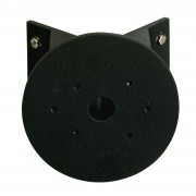 Round corner block for outdoor wall lights, black