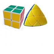 Mayatra's Combo Of Shengshou Magic 2X2X2 & Shengshou Master Pyramorphix Puzzle Pyramid Rubik Cube (2 Cubes)
