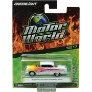 Greenlight Motor World Series Greenlight 96170A Motor World Series 17 1955 Chevy Bel Air w/ Flames 1: 64 Scale Diecast
