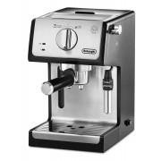 Espressor manual DeLonghi ECP35.31, 1100W, 15 bar, Oprire automată, Sistem manual de spumare a laptelui, Negru/Argintiu