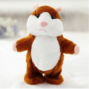 Animated Interactive Stuffed Animal Hamster Toy - Talking Mimic Robot Pet Dolls for Kids, Toddlers 4 & Up, Voice Repeats What You Say & Cuddly Plush Records Sounds - Fun Gift for Kids