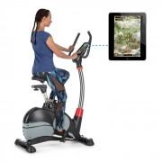 Capital Sports Arcadion Vélo d'appartement fitness Bluetooth USB - noir