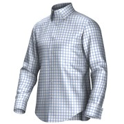 Maatoverhemd wit/blauw 53197
