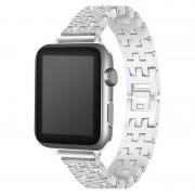 Bracelete Luxuoso em Aço Inoxidável para Apple Watch - 38mm - Prateado