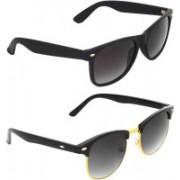 Zyaden Wayfarer, Clubmaster Sunglasses(Blue, Green)