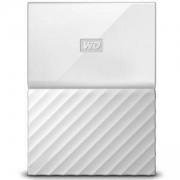 Външен твърд диск MyPassport HDD, 3TB, USB 3.0, Бял, WDBYFT0030BWT