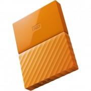Hard Disk Extern Wd My Passport, WDBYNN0010BOR-WESN, 1TB, USB 3.0, Portocaliu