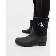 Calvin Klein Jeans - Philippa - Svarta gummistövlar i ankelhöjd - Svart