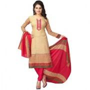 Polyester Blended Unstitchhed A-Line Salwar Suit Dress Material