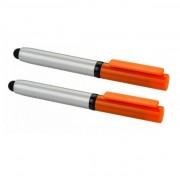 Set 2 bucati - stylus ecran cu functie pix, portocalii