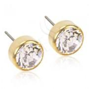 Blomdahl Titanium Bezel Crystal/Gold - 7