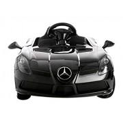 Evezo Mercedes-Benz SLR Ride on Car, Black, 12V