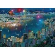 Puzzle Schmidt 1000 Alexander Chen Fireworks over Hong Kong
