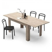 Mobili Fiver Mesa de cocina extensible, modelo Easy, color encina