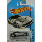 2014 Hot Wheels Hw City 31/250 - Ferrari F12 Berlinetta - Silver