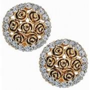 Maayra Women Earrings Partywear Alloy Ear Stud Golden Fashion Jewellery