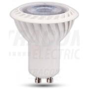 LED-es SPOT fényforrás, ( VCOB ) 7W-os teljesítményű, GU10 foglalattal, 6500K-es színhőmérsékletü, SMD LED ( 510 lm ) Tracon ( VCOB7CW )