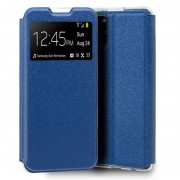 Cool Funda Flip Cover Lite Liso Azul para Samsung Galaxy Note 10