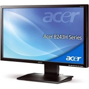 "Acer Monitor 24"" Acer B243hlaoymdr Led Full Hd Vga Altoparlanti Incorporati Refurbished Grigio"