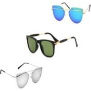 Sulit Aviator, Wayfarer Sunglasses(Silver, Blue, Green)