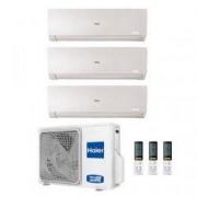 HAIER Climatizzatore Trial Split Flexis Bianco 9000+9000+12000 3u55s2sr2fa R-32 A++/a+ 9+9+12