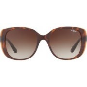 vogue Cat-eye, Retro Square Sunglasses(Brown)